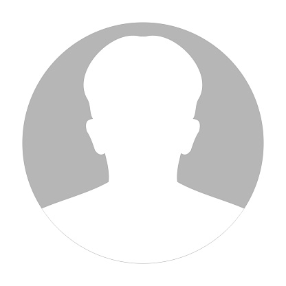 Profile anonymous face icon. Gray silhouette person. Male default avatar. Photo placeholder. Isolated on white background. Vector illustration